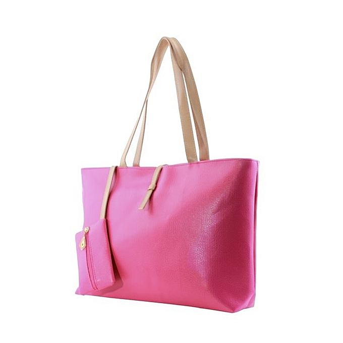 Sac à Main Hobo En Cuir PU -Rose - JGCI